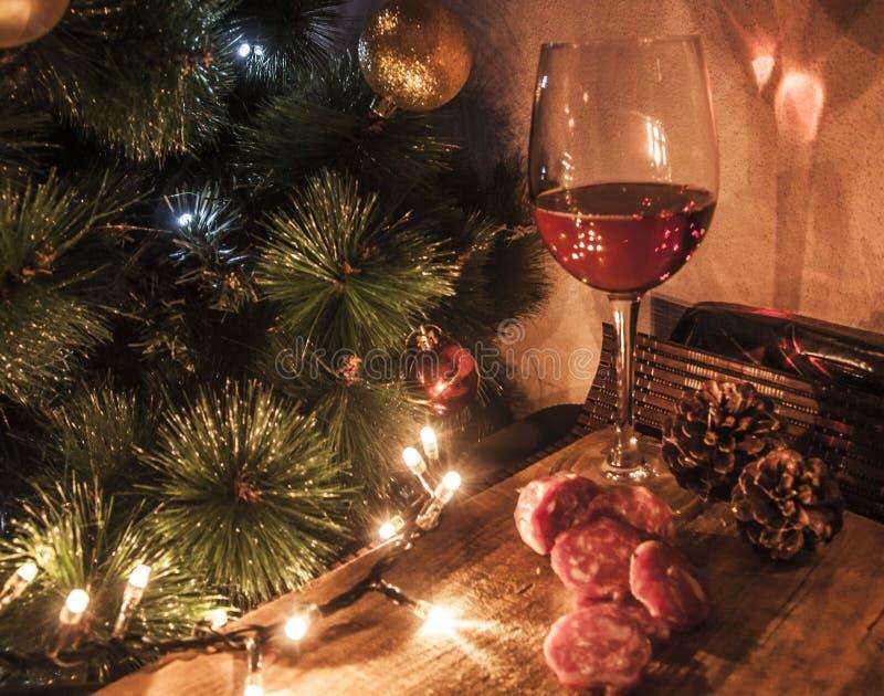 Wijn christams stock afbeeldingen