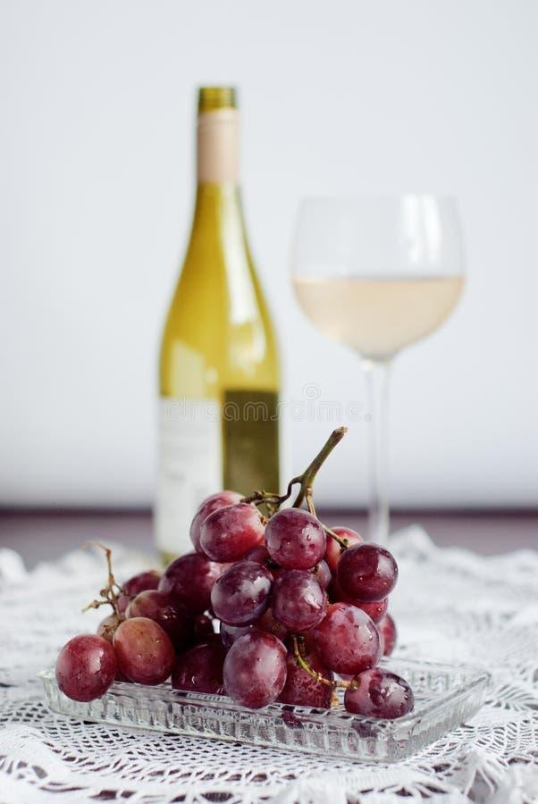 Wijn & druiven royalty-vrije stock fotografie