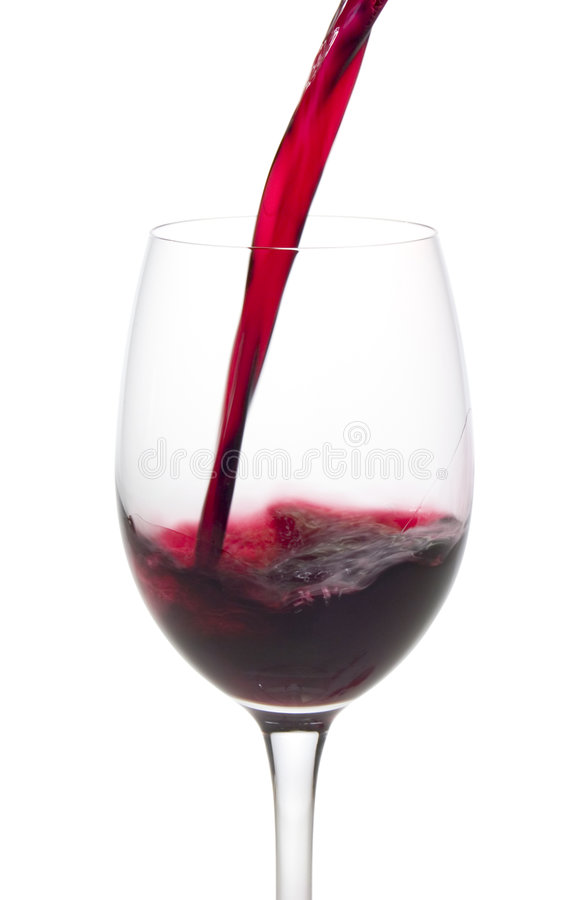 Wijn in een glas stock afbeelding