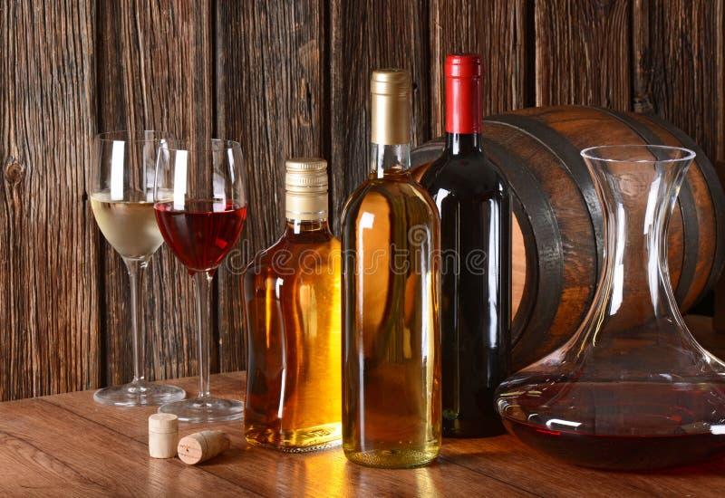 Wijn en alcoholische drank stock foto's