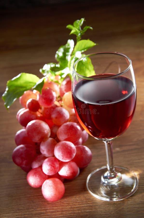 Wijn en Druif royalty-vrije stock foto's
