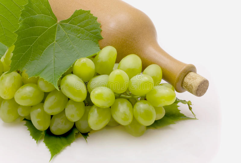 Wijn en druiven stock fotografie
