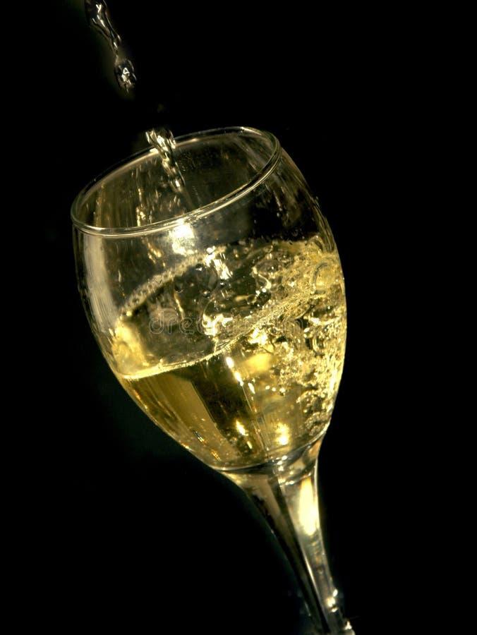 Wijn en glas royalty-vrije stock fotografie