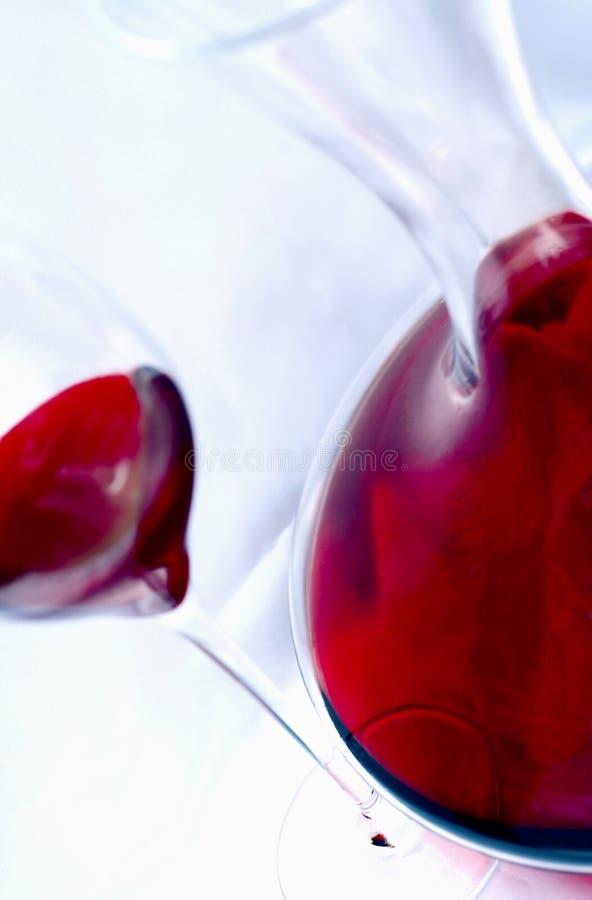 Wijn en karaf stock afbeeldingen