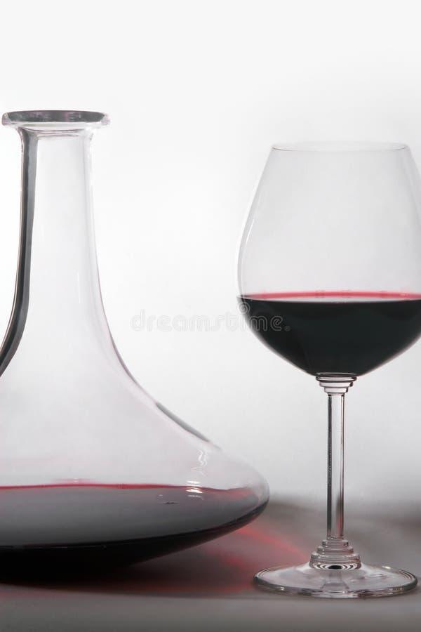 Wijn en Karaf stock foto