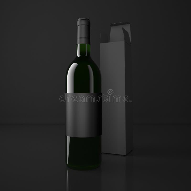 Wijn en verpakkingszakken royalty-vrije illustratie