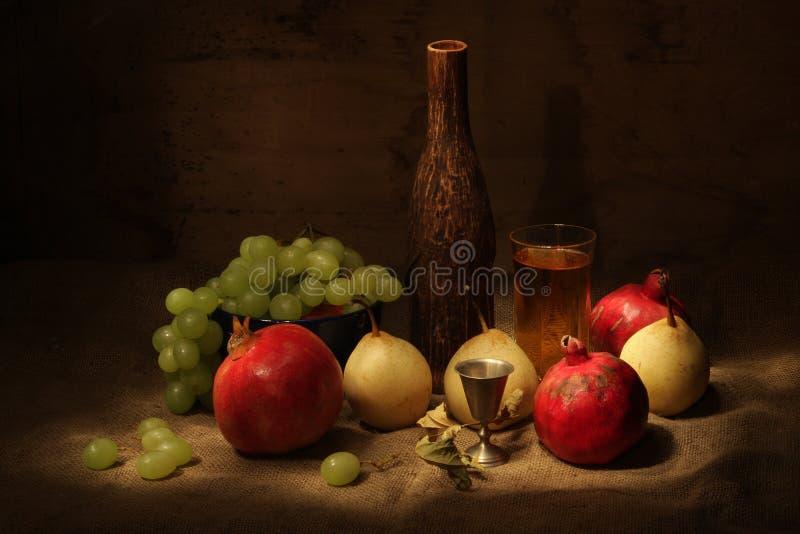 Wijn en vruchten royalty-vrije stock fotografie