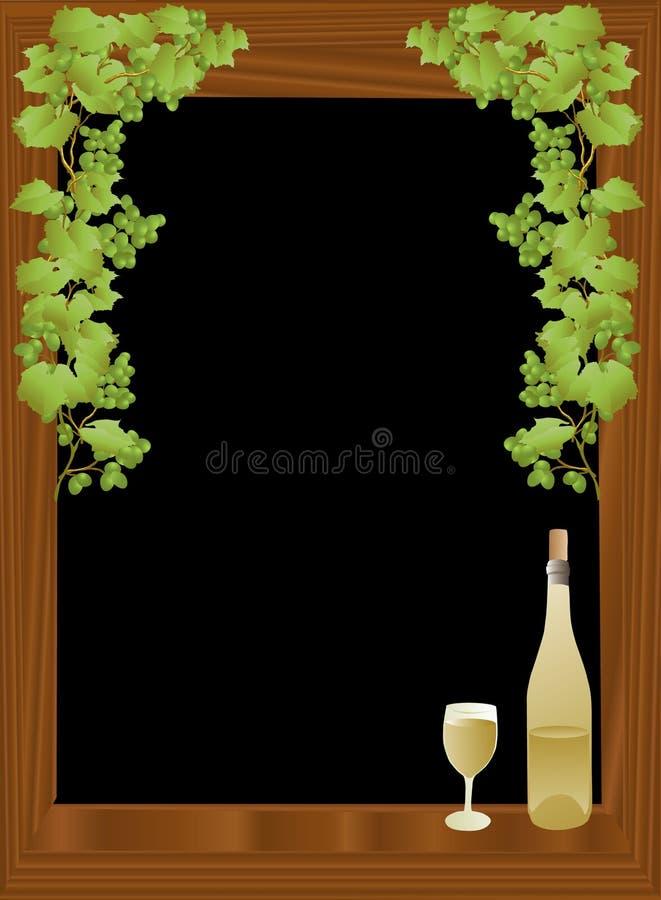 Wijn en zwarte achtergrond stock illustratie