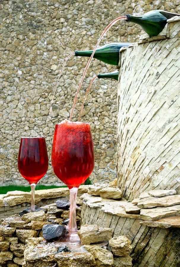 Wijn fontain royalty-vrije stock afbeeldingen