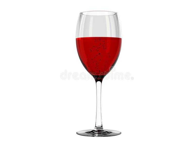 Wijn in glas vector illustratie