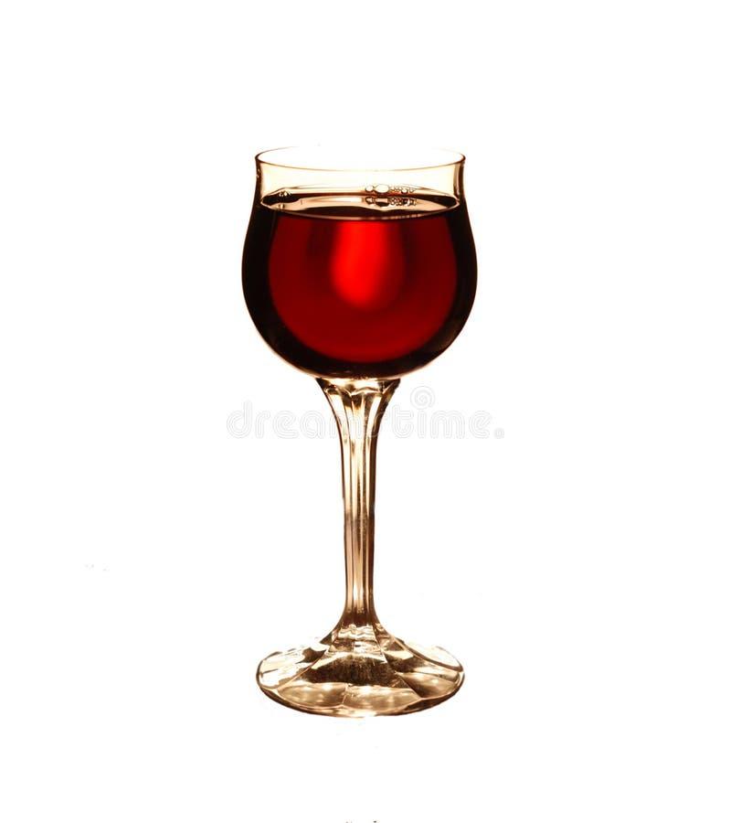 Wijn in het glas stock fotografie