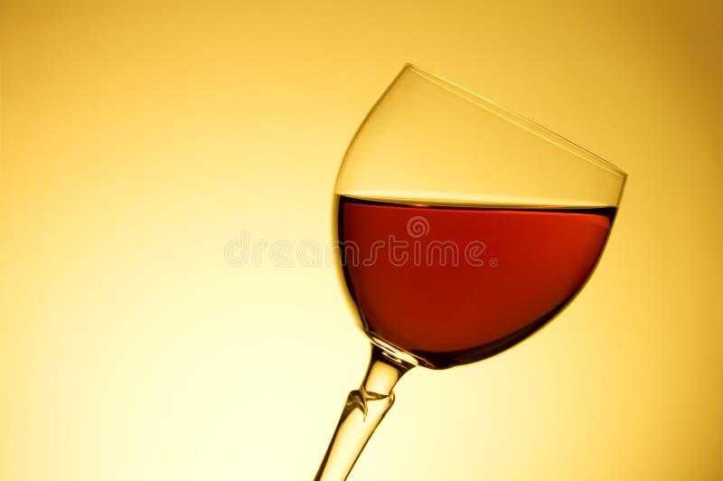 Wijn in het glas stock afbeeldingen