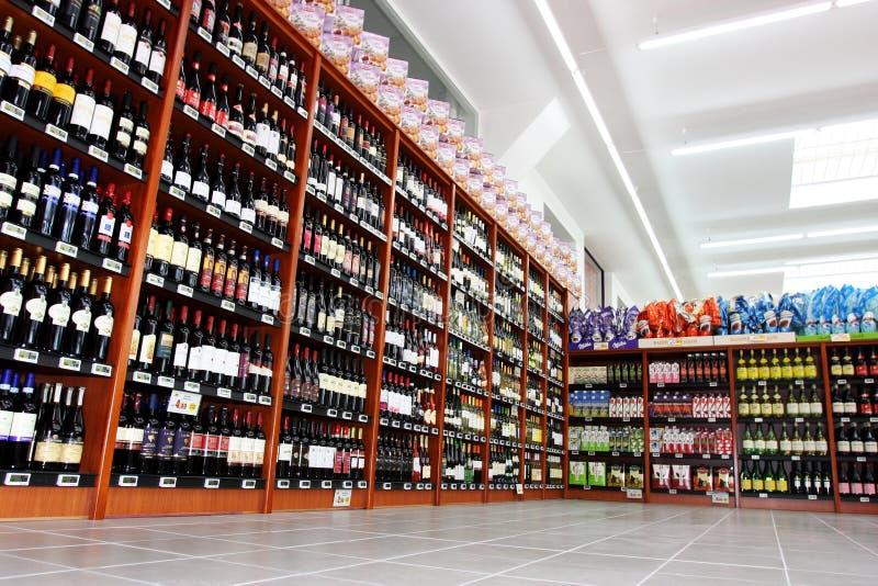 Wijn Italiaanse opslag stock afbeelding