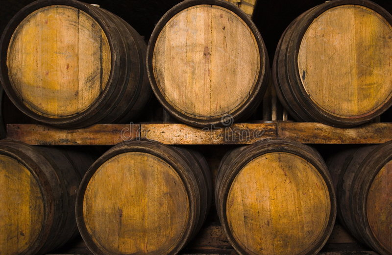 Wijn-kelder royalty-vrije stock afbeelding