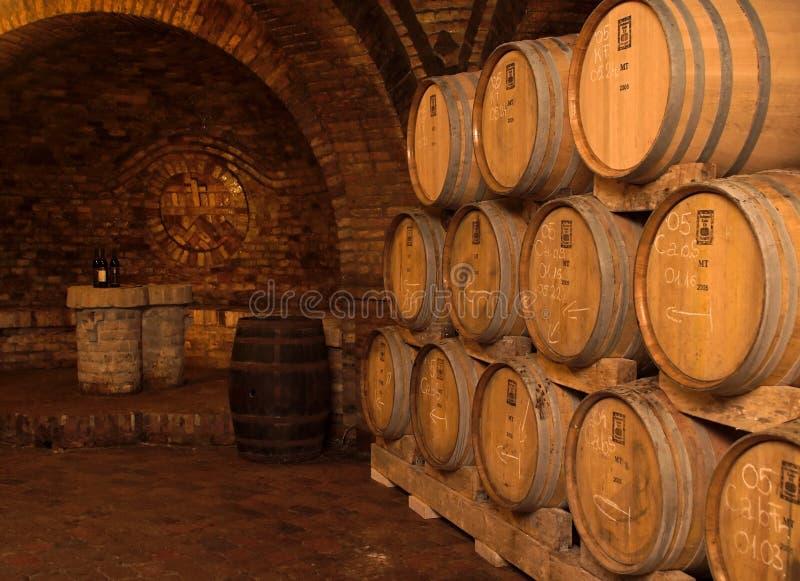 Wijn-kelder stock afbeeldingen