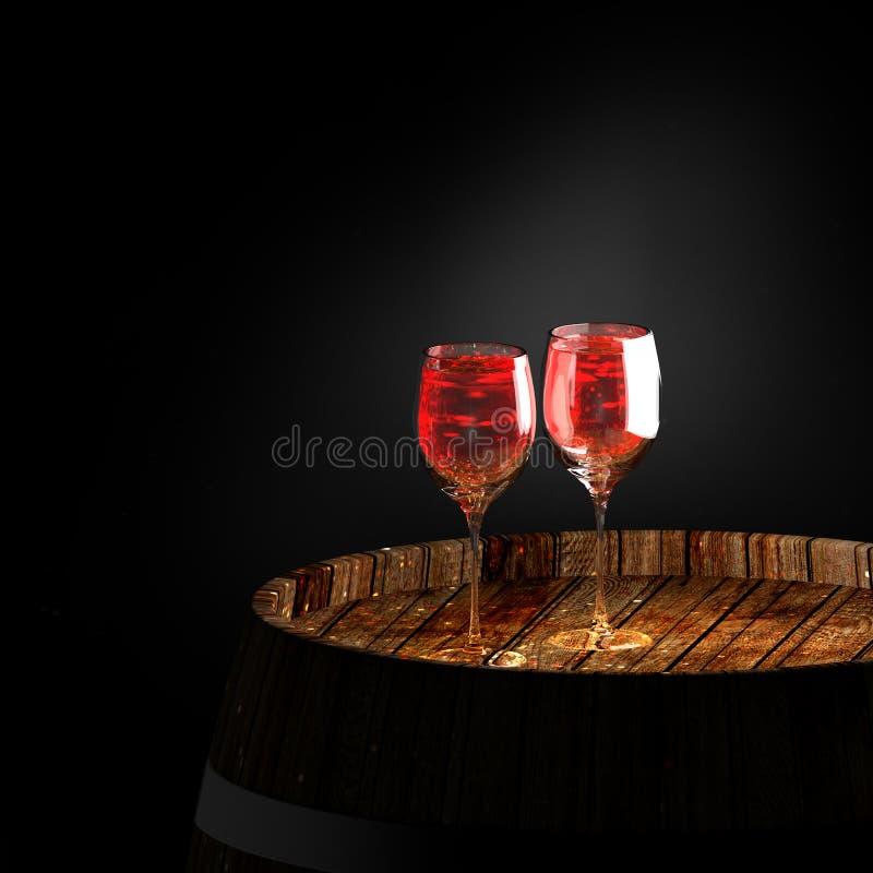 Wijn a op vat stock afbeeldingen