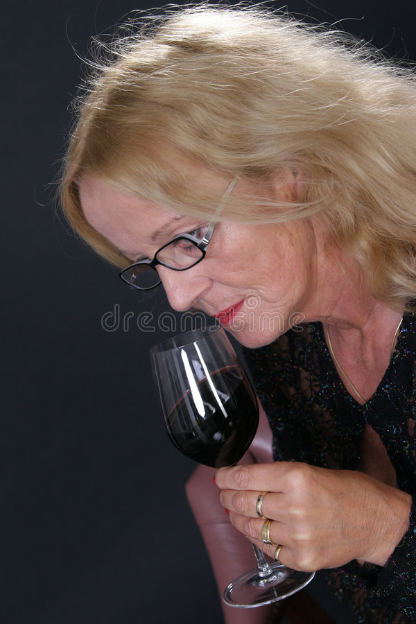 Wijn-proeft royalty-vrije stock afbeeldingen
