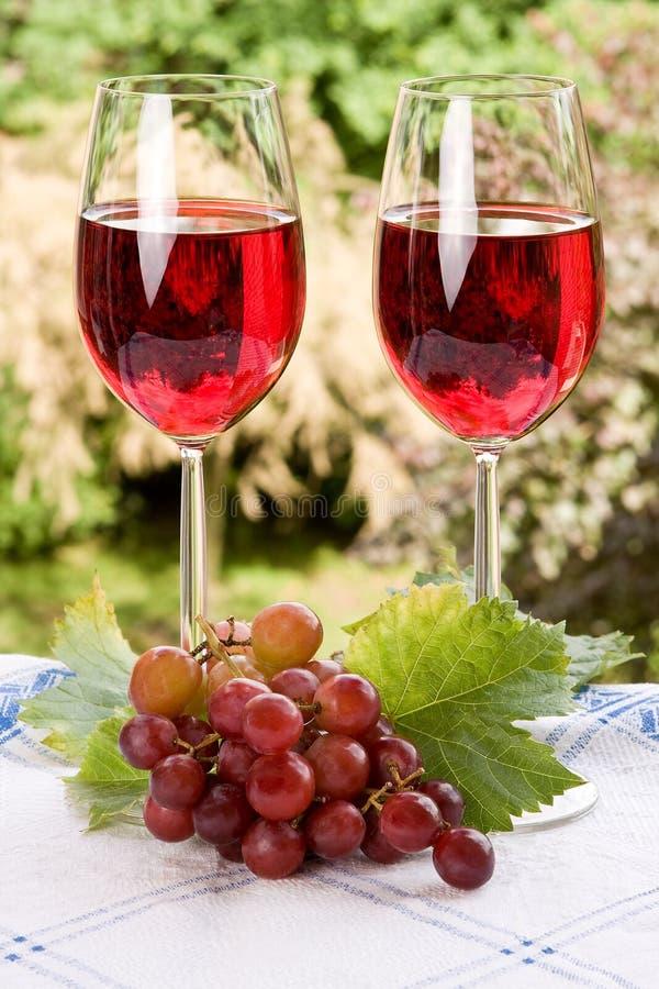 Wijn voor twee royalty-vrije stock foto