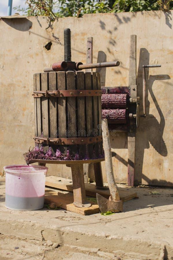 Wijnbereiding Technologie van wijnproductie royalty-vrije stock fotografie