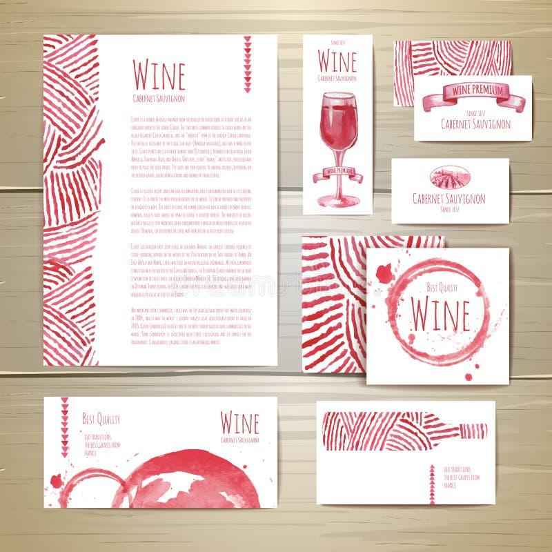 Wijnconceptontwerp Collectieve Identity royalty-vrije illustratie