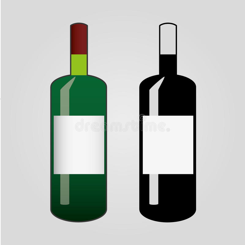 Wijnfles clipart royalty-vrije stock foto's