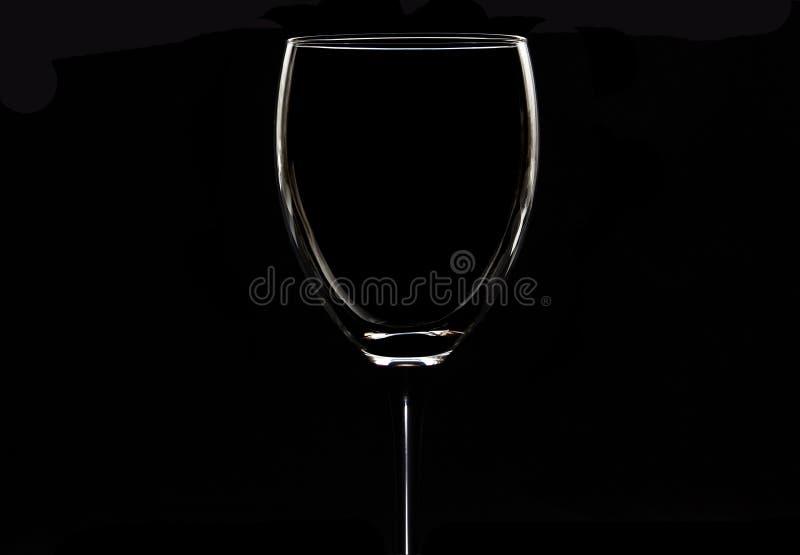 Wijnglas, een leeg glas stock foto's