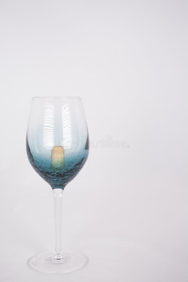Wijnglas met cork royalty-vrije stock fotografie