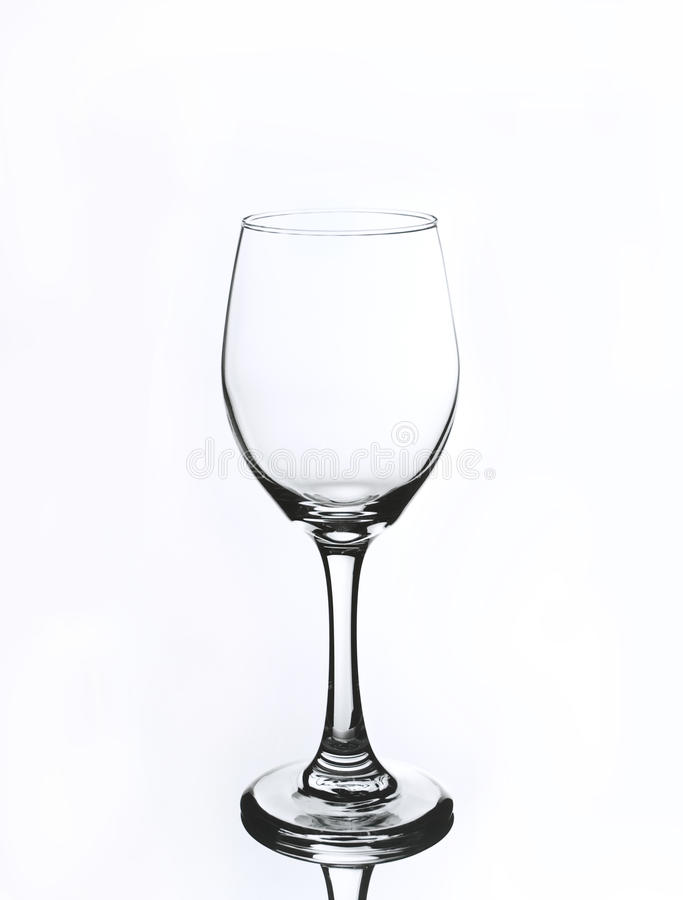 Wijnglas op witte achtergrond royalty-vrije stock afbeelding