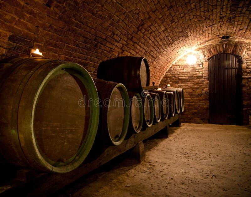 Wijnkelder stock foto