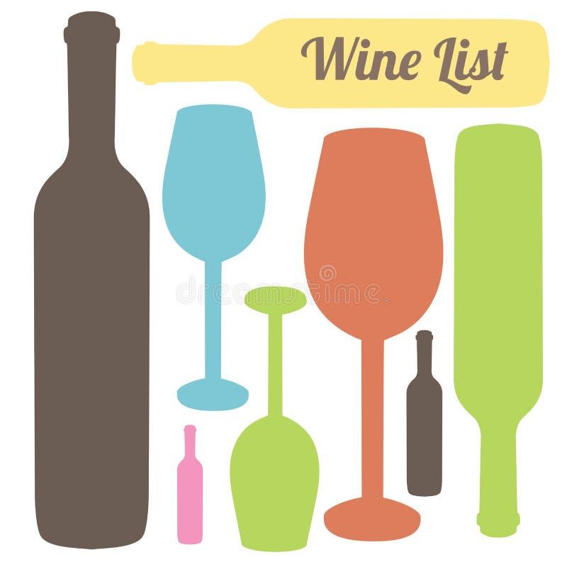 Wijnlijst stock illustratie