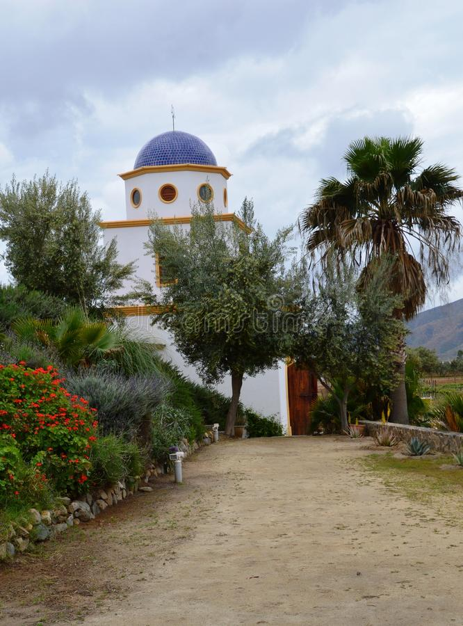 Wijnmakerij in Guadalupe Valley stock afbeeldingen