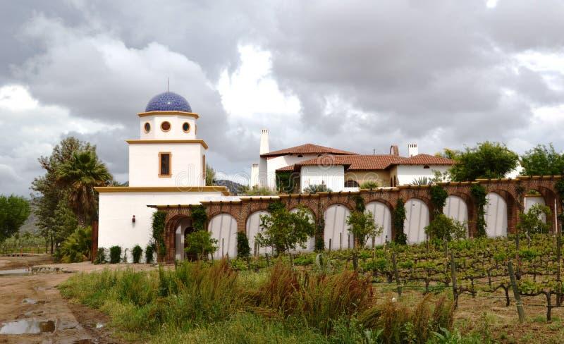 Wijnmakerij in Guadalupe Valley royalty-vrije stock fotografie