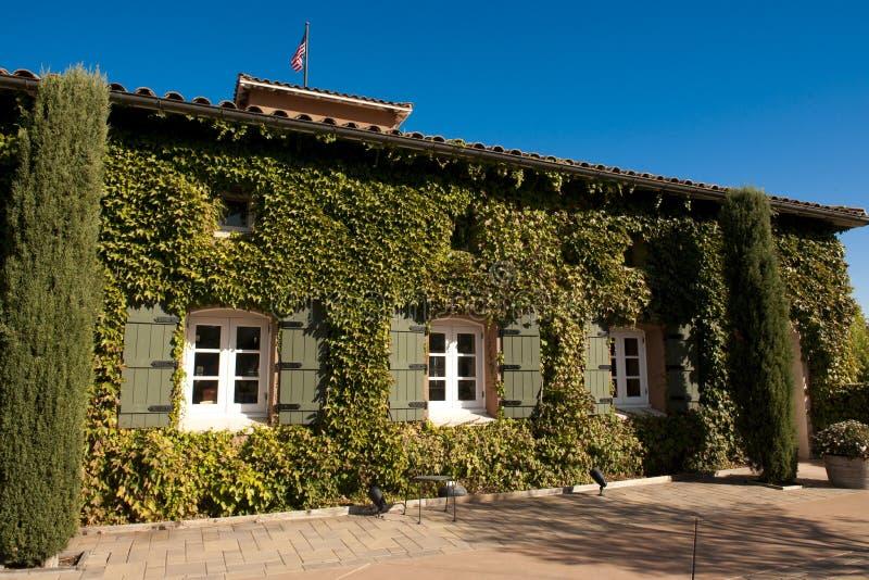 Wijnmakerij in Nappa Vallei, Californië stock foto