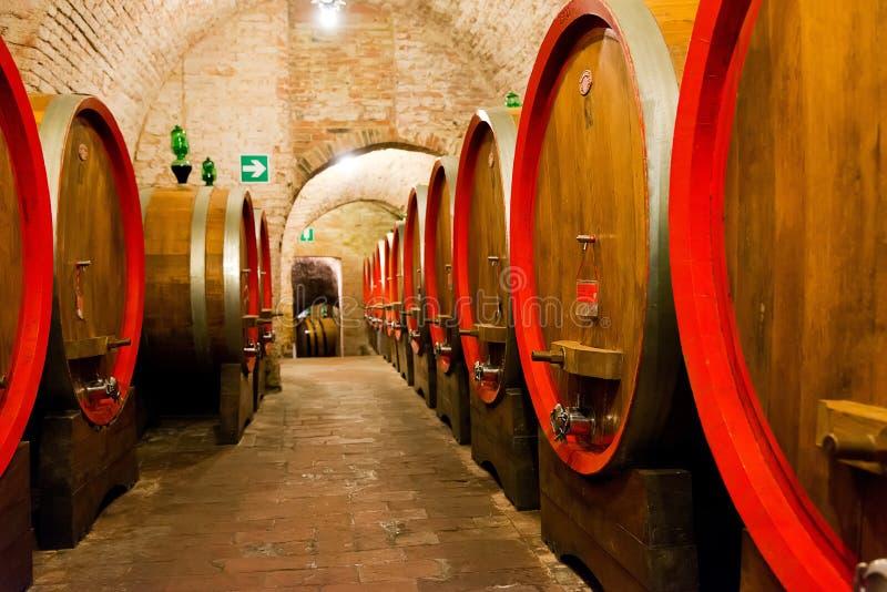Wijnmakerijen in Montepulciano royalty-vrije stock foto