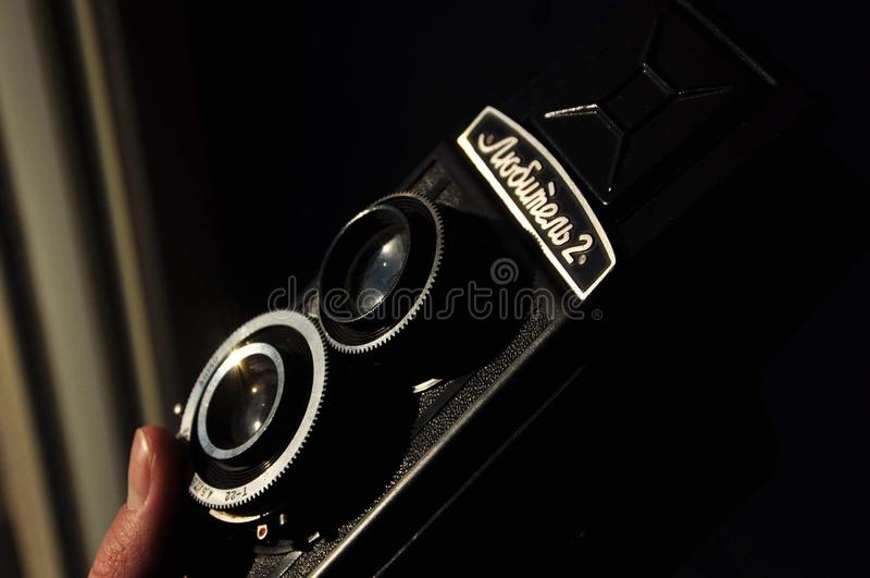 Wijnoogst 35mm Camera SLR royalty-vrije stock fotografie