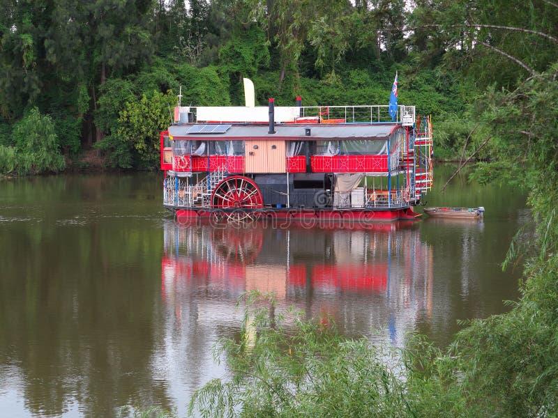 Wijnoogst riverboat royalty-vrije stock afbeelding