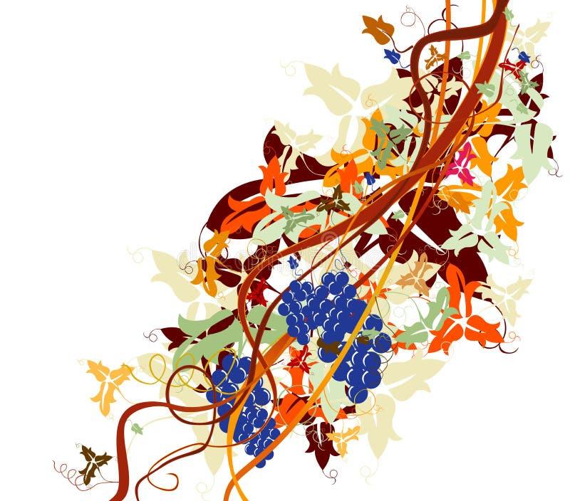 Wijnstok vector illustratie