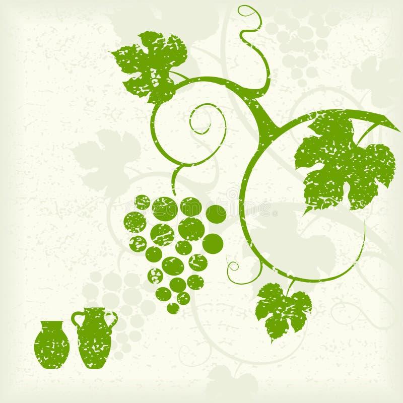 Wijnstokachtergrond. royalty-vrije illustratie