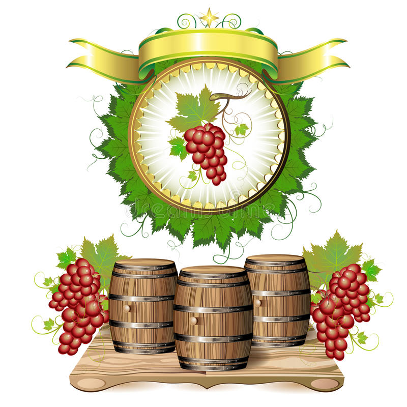 Wijnvat stock illustratie
