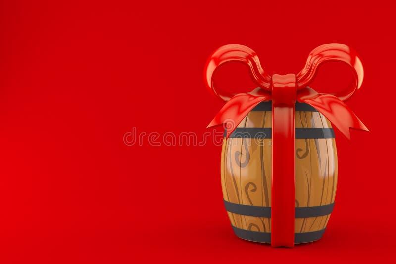 Wijnvat met rood lint stock illustratie