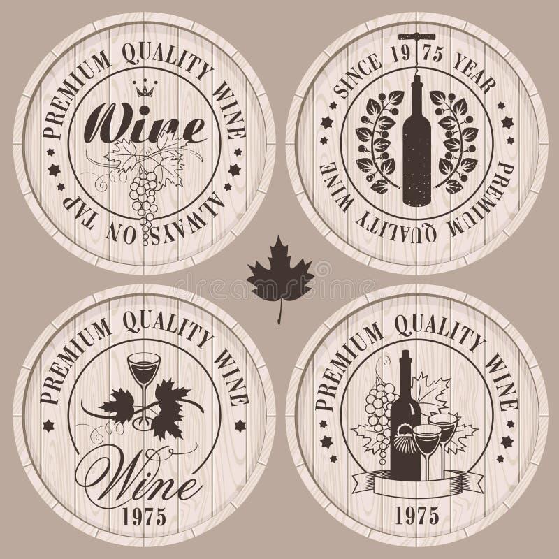 Wijnvatten vector illustratie