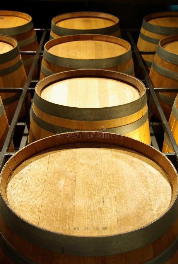 Wijnvatten stock fotografie