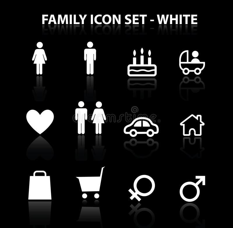 Wijs (de Witte) Op Reeks Van Het Pictogram Van De Familie Royalty-vrije Stock Afbeeldingen