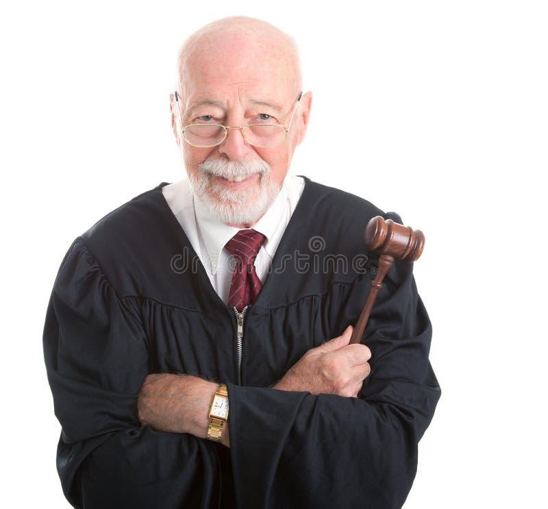 Wijs en Vriendelijke rechter - royalty-vrije stock foto