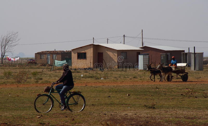 Wijzen van vervoer in landelijk Zuid-Afrika stock foto