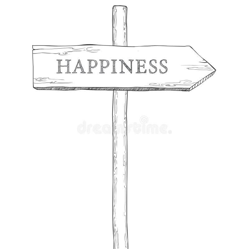 Wijzer aan geluk stock illustratie