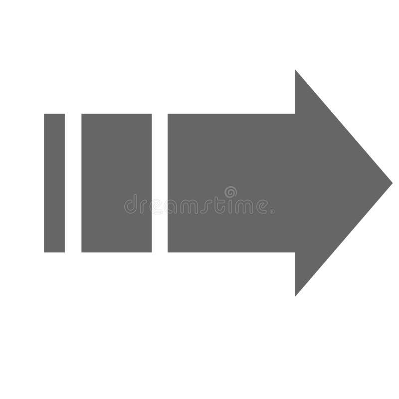 Wijzer, pijl in moderne vlakke stijl Pijlknoop op witte achtergrond wordt geïsoleerd die Symbool voor Webontwerp, plaats, app, UI stock illustratie
