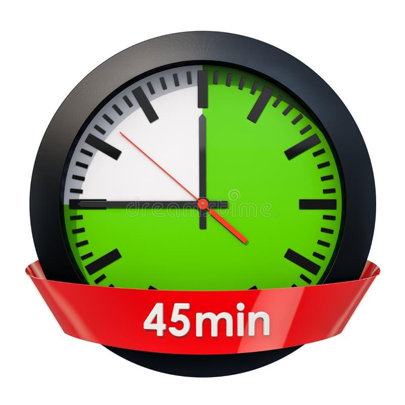 Wijzerplaat met 45 minuten tijdopnemer het 3d teruggeven royalty-vrije illustratie