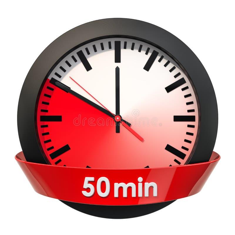 Wijzerplaat met 50 minuten tijdopnemer het 3d teruggeven royalty-vrije illustratie