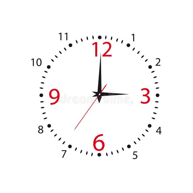 Wijzerplaat van uren. Vector illustratie vector illustratie